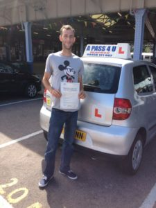 Charlie Roberts passes in Clacton