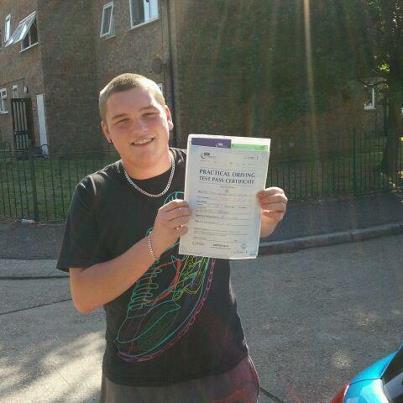 Jack Neville passes his driving test in Basildon