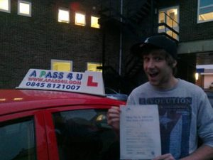 Reece Mound passes his driving test in Clacton