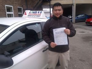 Cheatanpuni passes his driving test in Clacton