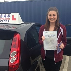 Chloe Wheatley passes her driving test in Southend