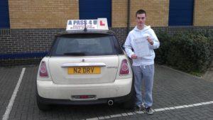 Jordan Priestly passes 1st time in Tilbury