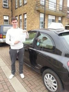 Martin Winch passes his driving test in Basildon