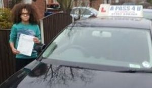 Perri Kiely from Diversity passes his driving test in Tilbury