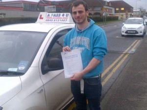 Robert Ellis passes his driving test in Basildon