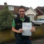 Adam Whitehead passes his driving test in Portsmouth