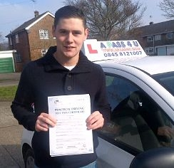 Billy Jacob passes driving test in Clacton