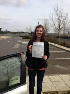 Christine Bentham pass her driving test in Herne Bay