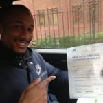 Karl Christian-Law passes his driving test in Brentwood