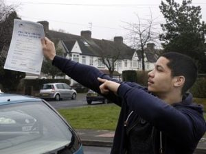 Matthew Caillaux passes his driving test in West Wickham