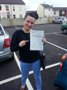 Carla Dorwood passed her driving test in Portsmouth