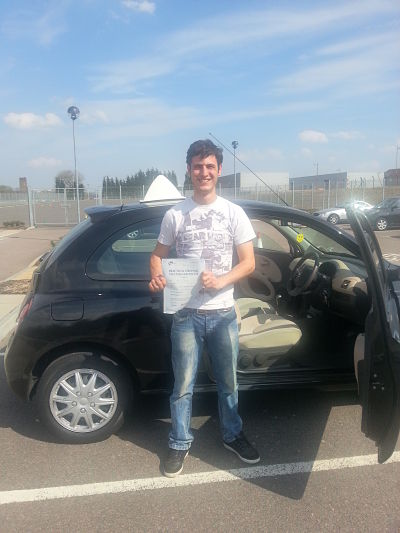 Dominic Wollcott passes his driving test with A Pass 4 U