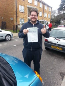 Harry Atkins passes driving test in Portsmouth
