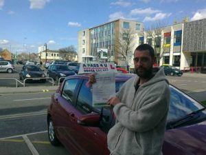 Ian Smith passes his driving test in Lowestoft