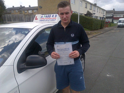 Steven Jeeves passes his driving test in Basildon