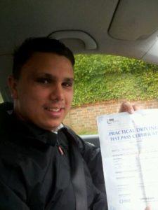 Jordan Tatham passes his driving test in Worthing