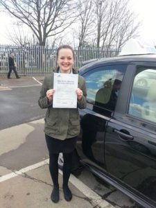Louise French passes her driving test in Southend on Sea