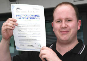 Luke Jennings passes his driving test in Sidcup