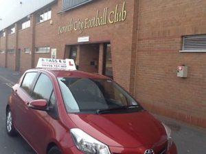 Norwich City FC learner car