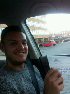 Alex Cubberly passes his driving test in Worthing