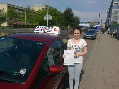 Alex Hinton passes his driving test in Norwich