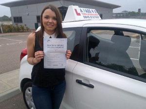 Amanda Beale passes her driving test in Basildon
