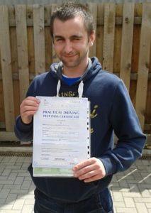 Ben Davis passes his driving test in Brentwood