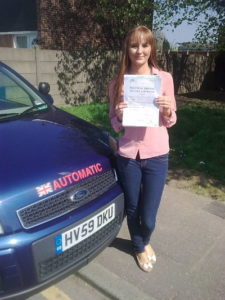 Emma Hobbs passes her driving test in Tilbury