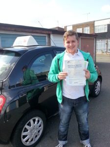 Ian Cross passes his driving test in Tilbury