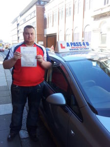 James Neale passes his driving test in Southampton