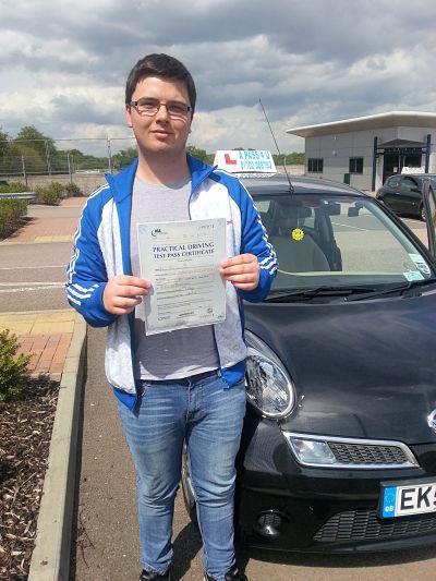 John Ward passes his driving test in basildon essex