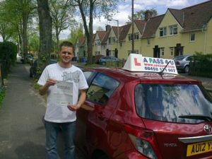 Luke Maxted passes his driving test in Norwich