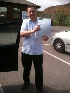 Ryan Waters passes his driving instructor in Portsmouth