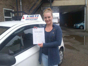Sophie Davies pases her driving test in Clacton