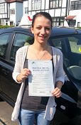 Abby Hixon passes her driving test 1st time in Basildon