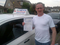 Dan Pedrick passes his driving test 1st time in Brentwood