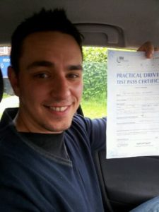 Daniel Sheperds passes his driving test in Brentwood