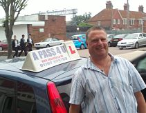 David Burge passes his driving test in Clacton