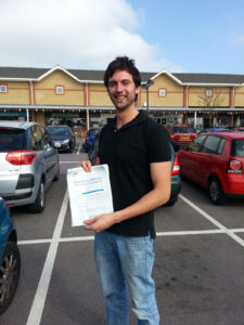 Ed Jones passes his driving test in Portsmouth