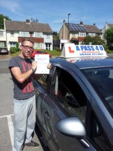 Jack Pitt passes his driving test in Southampton
