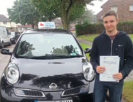 Jake Lloyd passes his driving test in Basildon