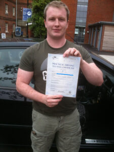 Liam Joyce passes his driving test in Portsmouth