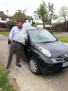 Michael Blight passed his driving test in Southend on Sea