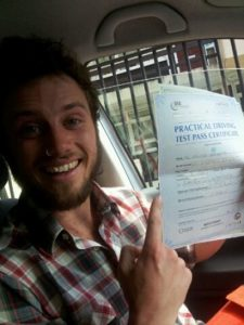 Nathan Sunshine passes his driving test in Worthing