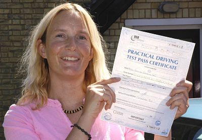 Vicky Ives passes her driving test in Sevenoaks