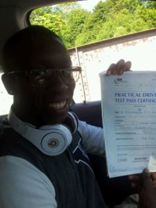michael Opayinka passes his driving test in Brighton