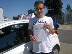 Bradley Seadan Passes his driving test in Southend on Sea