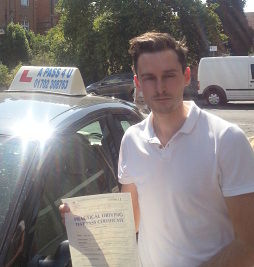 Jake Jug passes his driving test in Basildon