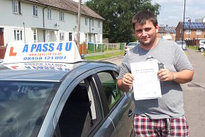 Klayton Early passes his driving test in Southampton