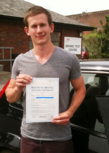 Mike Smith Passes his driving test in Portsmouth